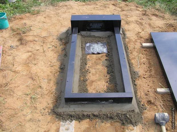 Установка памятника из гранита своими руками видео