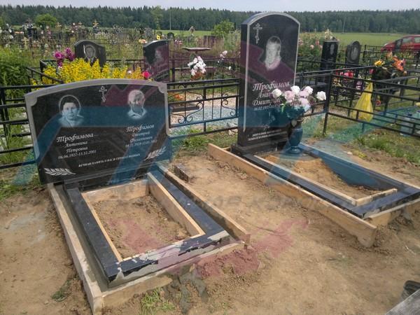 Фундамент под памятник на кладбище своими руками