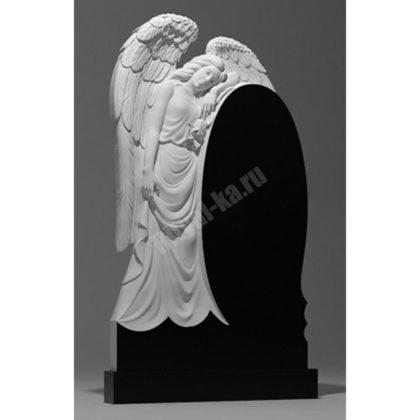 Мраморный памятник Ангел с розой 002