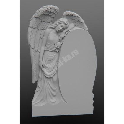 Гранитный памятник Ангел с розой 002-2