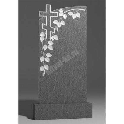 Мраморный памятник Ветвь березы с крестом 007