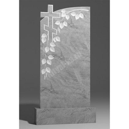 Гранитный памятник Ветвь березы с крестом 007-2