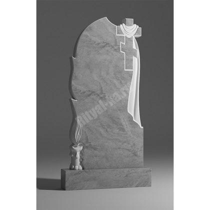 Мраморный памятник Крест Свеча Плащаница 014
