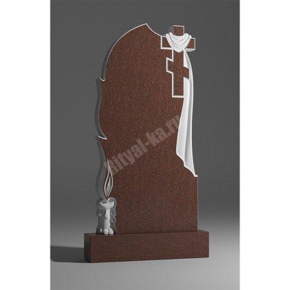 Гранитный памятник Крест Свеча Плащаница 014-2