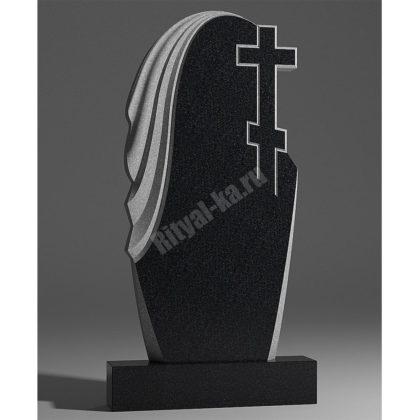 Гранитный памятник Крест и мантия 009-2