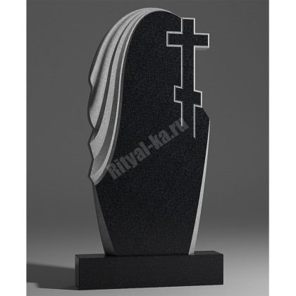 Мраморный памятник Крест и мантия 009
