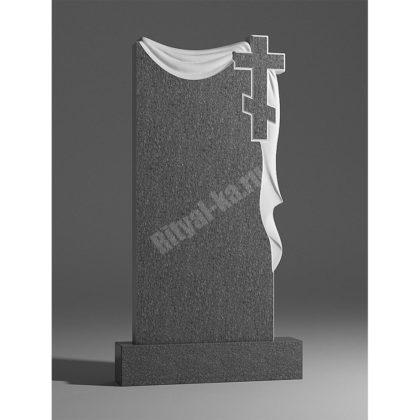 Мраморный памятник Крест и плащаница 011