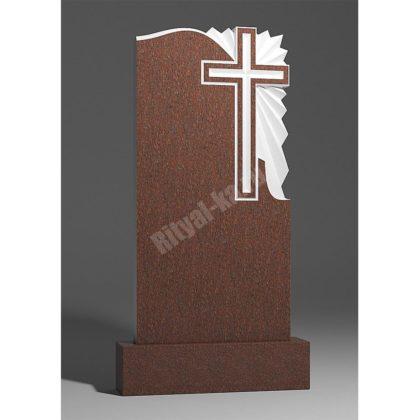 Мраморный памятник Крест с лучами 012