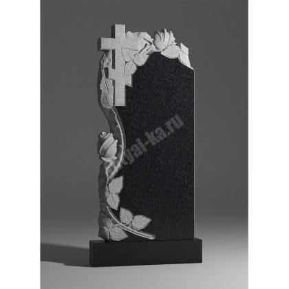 Гранитный памятник Крест с розами 013-2