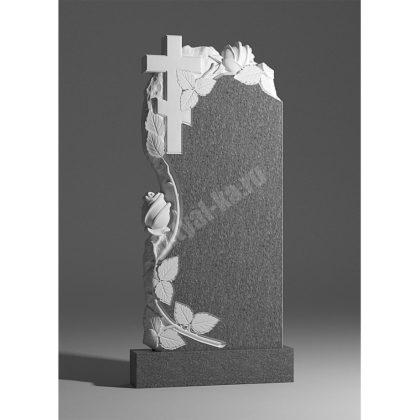 Мраморный памятник Крест с розами 013