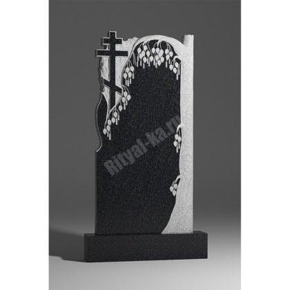 Мраморный памятник Береза с крестом 006