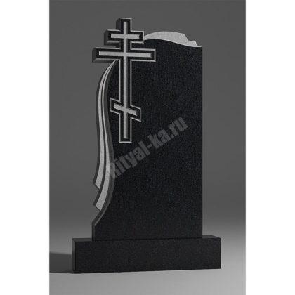 Мраморный памятник Крест с тканью 015