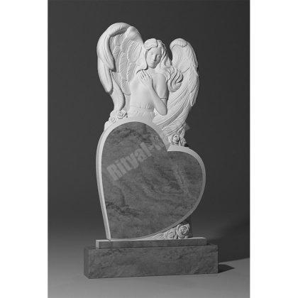 Гранитный памятник Ангел на сердце 001-2