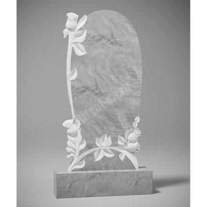 Мраморный памятник Розы в овале 016