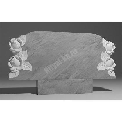 Мраморный памятник Семейник с розами 025