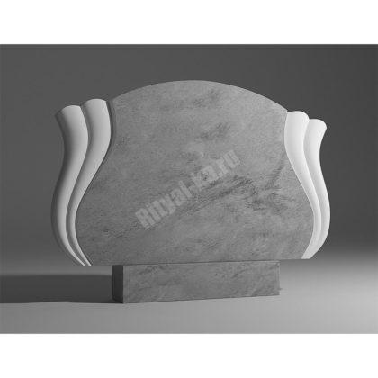 Мраморный памятник Семейный с веерами выпуклый 028