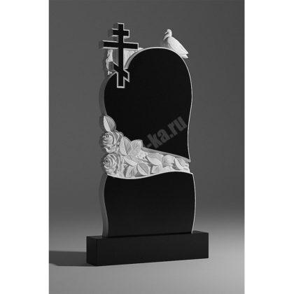 Мраморный памятник Сердце Голубь Крест 030