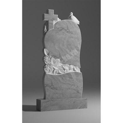 Мраморный памятник Сердце Голубь один 023
