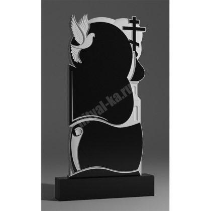 Мраморный памятник Церковь Голубь Облака 035