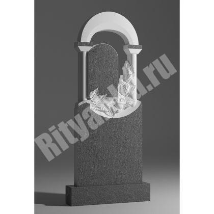 Мраморный памятник Арка с розами 037
