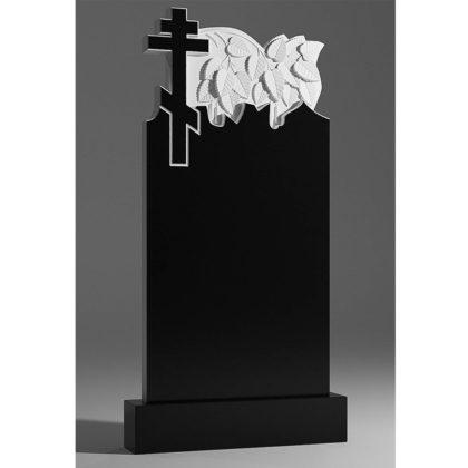 Гранитный памятник ветка березы с крестом 045-2