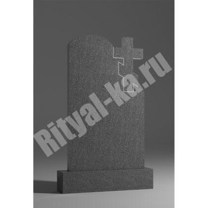 Гранитный памятник Волна с крестом 043-2