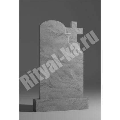 Мраморный памятник Волна с крестом 043