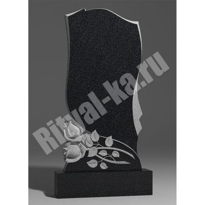 Гранитный памятник Две розы снизу 038-2