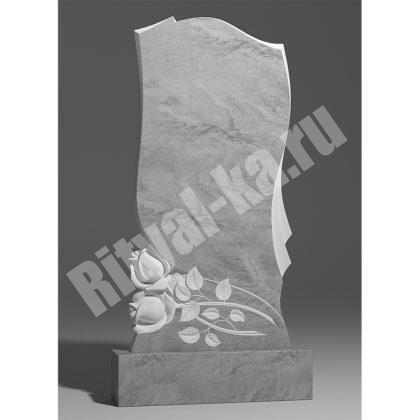Мраморный памятник Две розы снизу 038