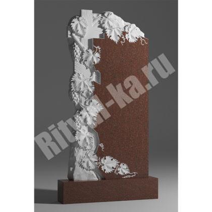 Мраморный памятник Виноград с крестом 042