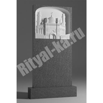 Мраморный памятник Мечеть сверху 052